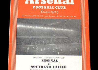 Arsenal v Southend 09.03.1953