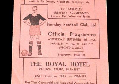 Notts County v Barnsley 12.09.1951