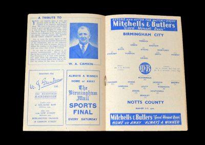 Notts County v Birmingham 01.12.1951