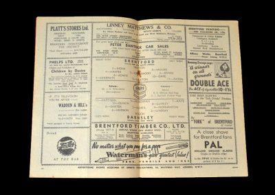Brentford v Barnsley 12.04.1952
