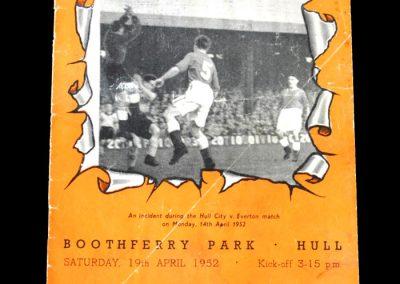 Brentford v Hull City 19.04.1952