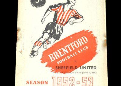 Brentford v Sheff Utd 17.09.1952