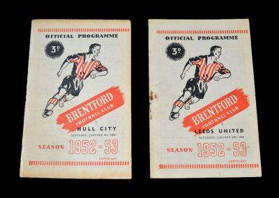 Brentford v Hull City 03.01.1953 | Brentford v Leeds 10.01.1953 - FA Cup 3rd Round