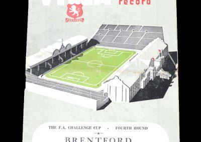Brentford v Aston Villa 31.01.1953 - FA Cup 4th Round