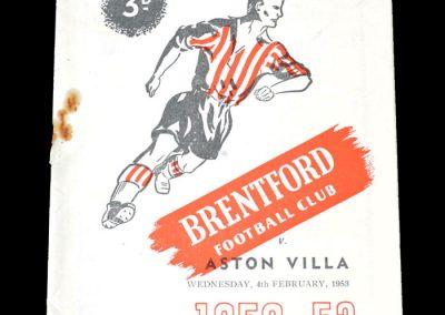 Brentford v Aston Villa 04.02.1953 - FA Cup 4th Round Replay