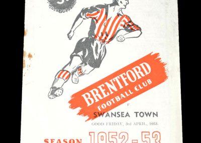 Brentford v Swansea 03.04.1953