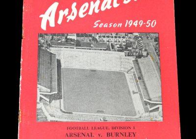 Arsenal v Burnley 20.08.1949