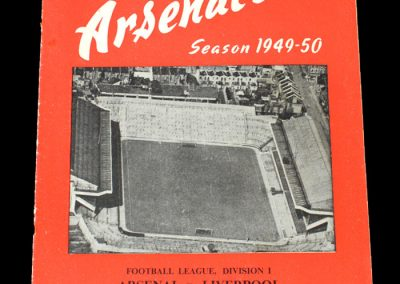 Arsenal v Liverpool 03.09.1949