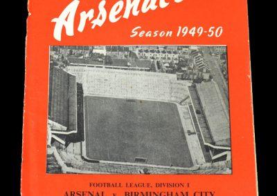 Arsenal v Birmingham City 24.09.1949