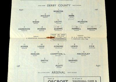 Arsenal v Derby 01.10.1949