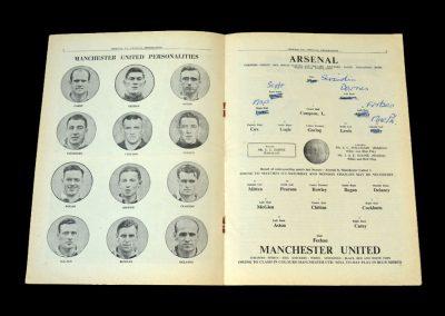 Arsenal v Man Utd 27.12.1949