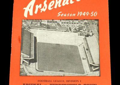 Arsenal v Huddersfield 14.01.1950