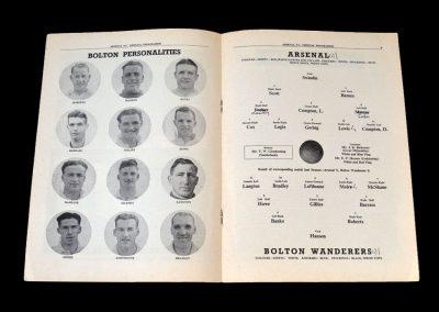 Arsenal v Bolton 21.01.1950