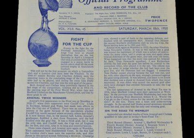 Arsenal v Chelsea 18.03.1950 - FA Cup Semi Final