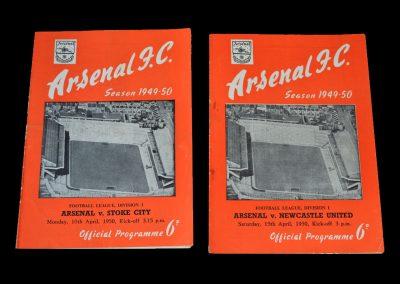 Arsenal v Stoke 10.04.1950 | Arsenal v Newcastle 15.04.1950