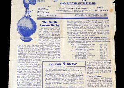 Man City v Spurs 06.10.1951