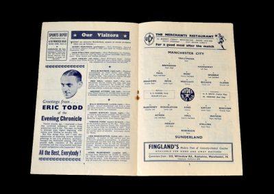 Man City v Sunderland 22.12.1951