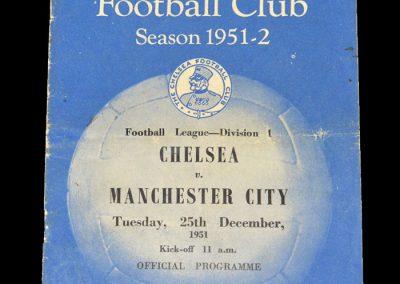 Man City v Chelsea 25.12.1951