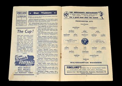 Man City v Wolves 12.01.1952 - FA Cup 3rd Round