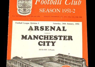 Man City v Arsenal 26.01.1952