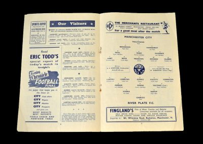 Man City v River Plate 02.02.1952