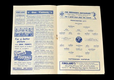 Man City v Spurs 16.02.1952