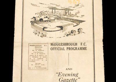 Man City v Middlesbrough 29.03.1952