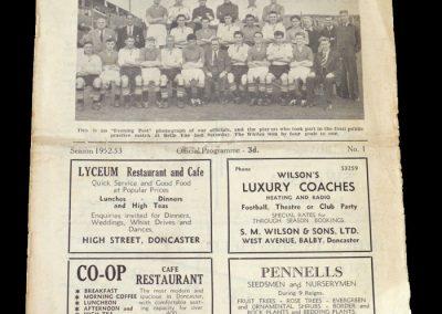 Doncaster v Barnsley 23.08.1952