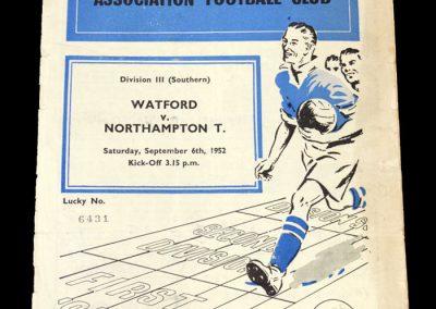 Watford v Northampton 06.09.1952