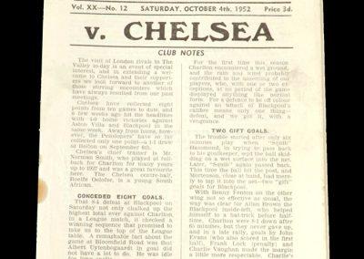 Charlton v Chelsea 04.10.1952
