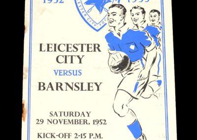 Leicester v Barnsley 29.11.1952