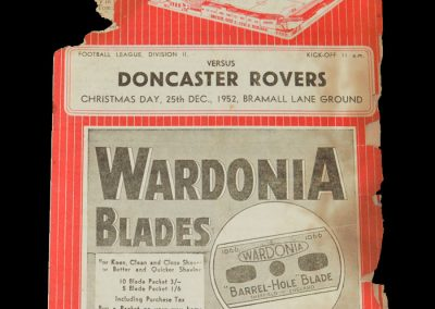 Sheff Utd v Doncaster 25.12.1952