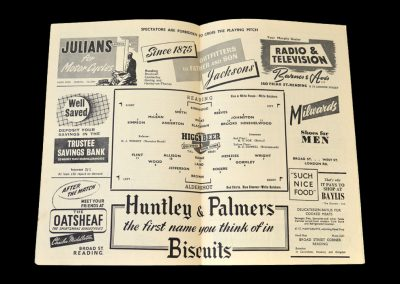 Reading v Aldershot 17.01.1953