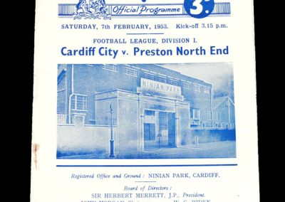 Cardiff v Preston 07.02.1953