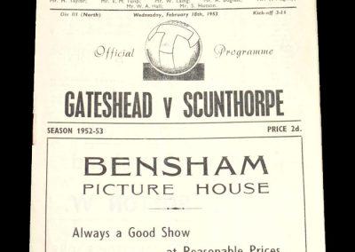 Gateshead v Scunthorpe 18.02.1953