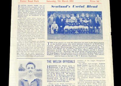 Scotland v Wales 07.03.1953 - Junior International (Dave Mackay)