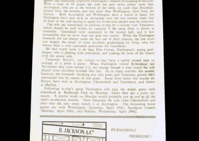 Darlington v Tranmere 04.04.1953