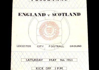 England Schools v Scotland Schools 09.05.1953