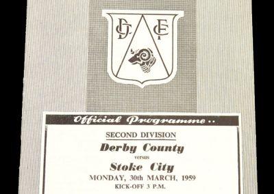 Derby County v Stoke City 30.03.1959