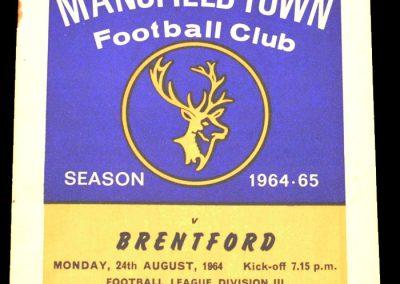 Mansfield v Brentford 24.08.1964