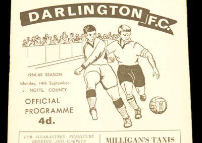 Darlington v Notts co 14.09.1964