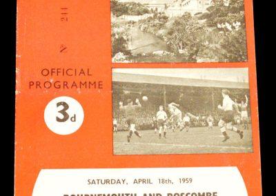 Bournemouth v Notts County 18.04.1959
