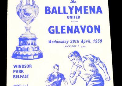 Glenavon v Ballymena United 29.04.1959 | Irish Cup final Replay
