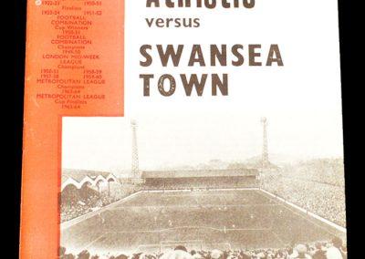 Charlton v Swansea 19.09.1964