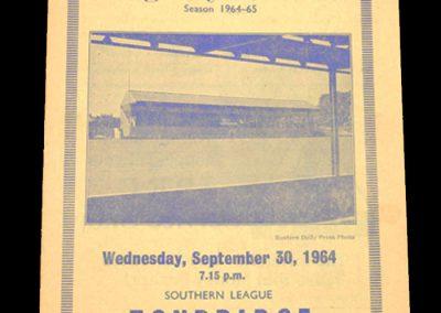 Kings Lynn v Tonbridge 30.09.1964
