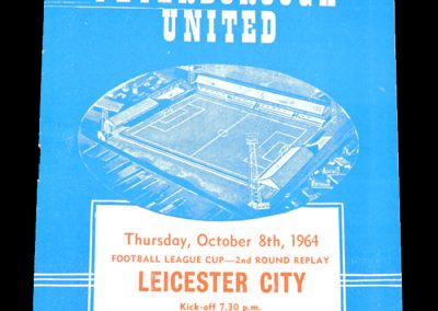 Peterborough v Leicester 08.10.1964 | League Cup 2nd Round Replay