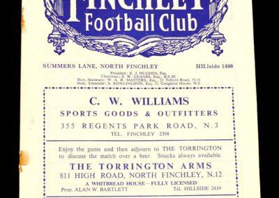 Finchley v Redhill 23.08.1958