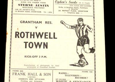Grantham Reserves v Rothwell Town 04.10.1958