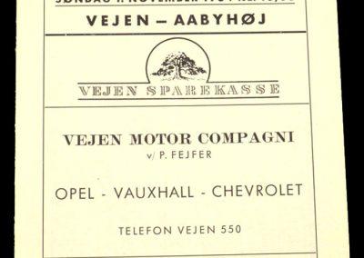 Vejen v Aabyhoj 01.11.1964 | Danish