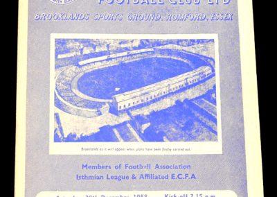 Romford v Dulwich 20.12.1958